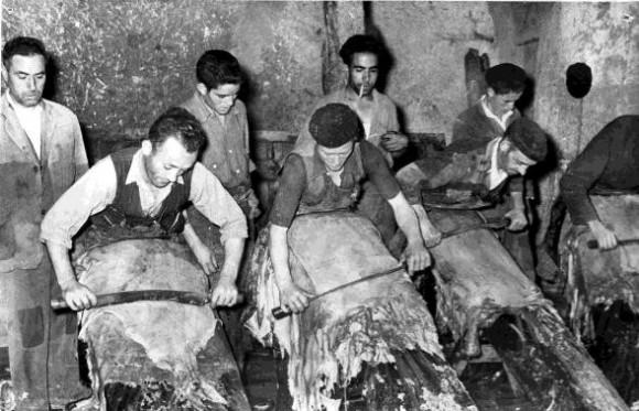 Trabajos tradicionales de curtido