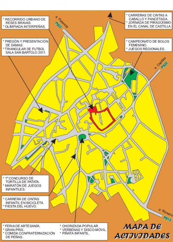 Mapa de actividades San Bartolomé 2011