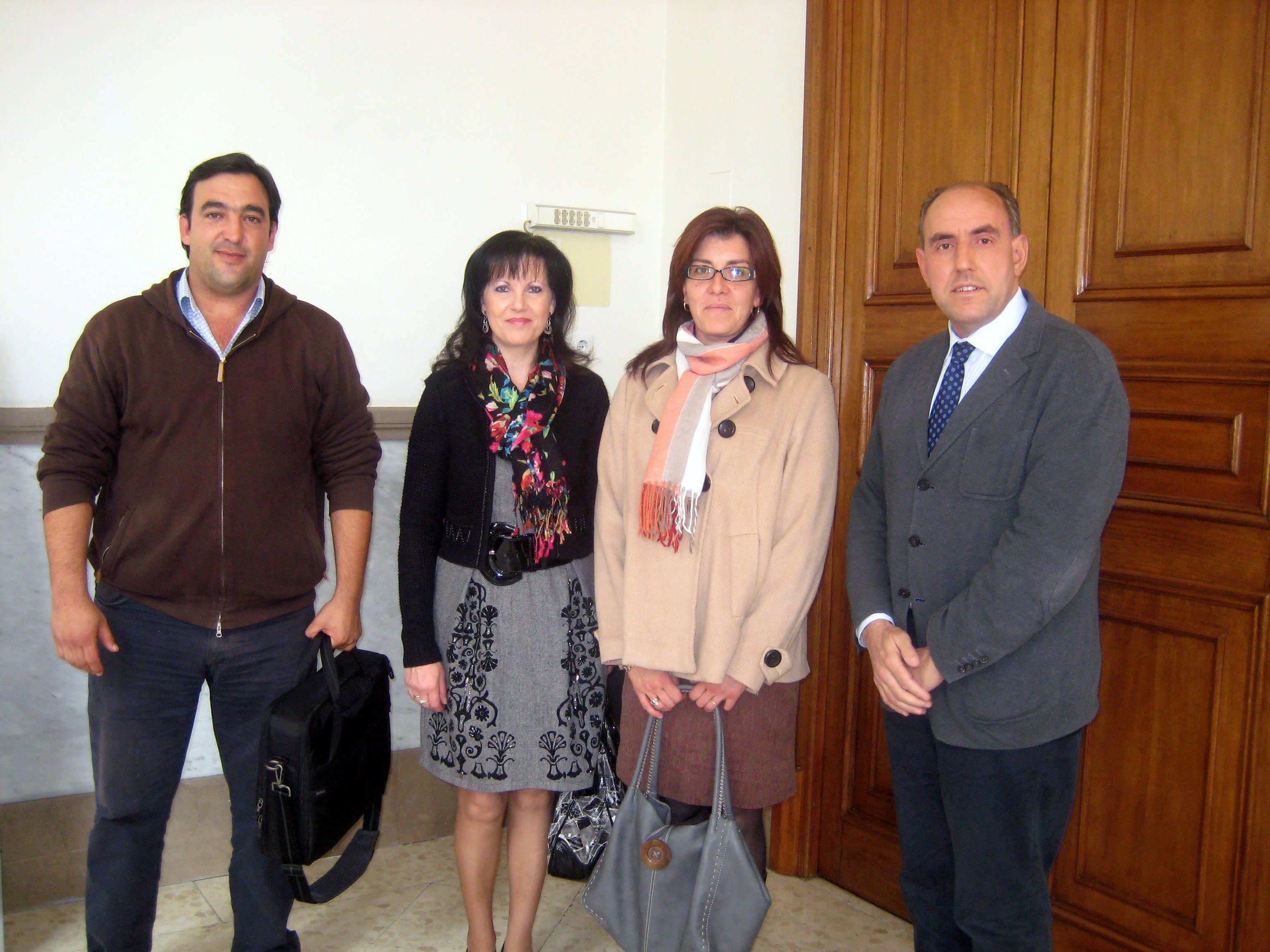 Visita de la Alcaldesa y el Teniente de Alcalde a la Diputación