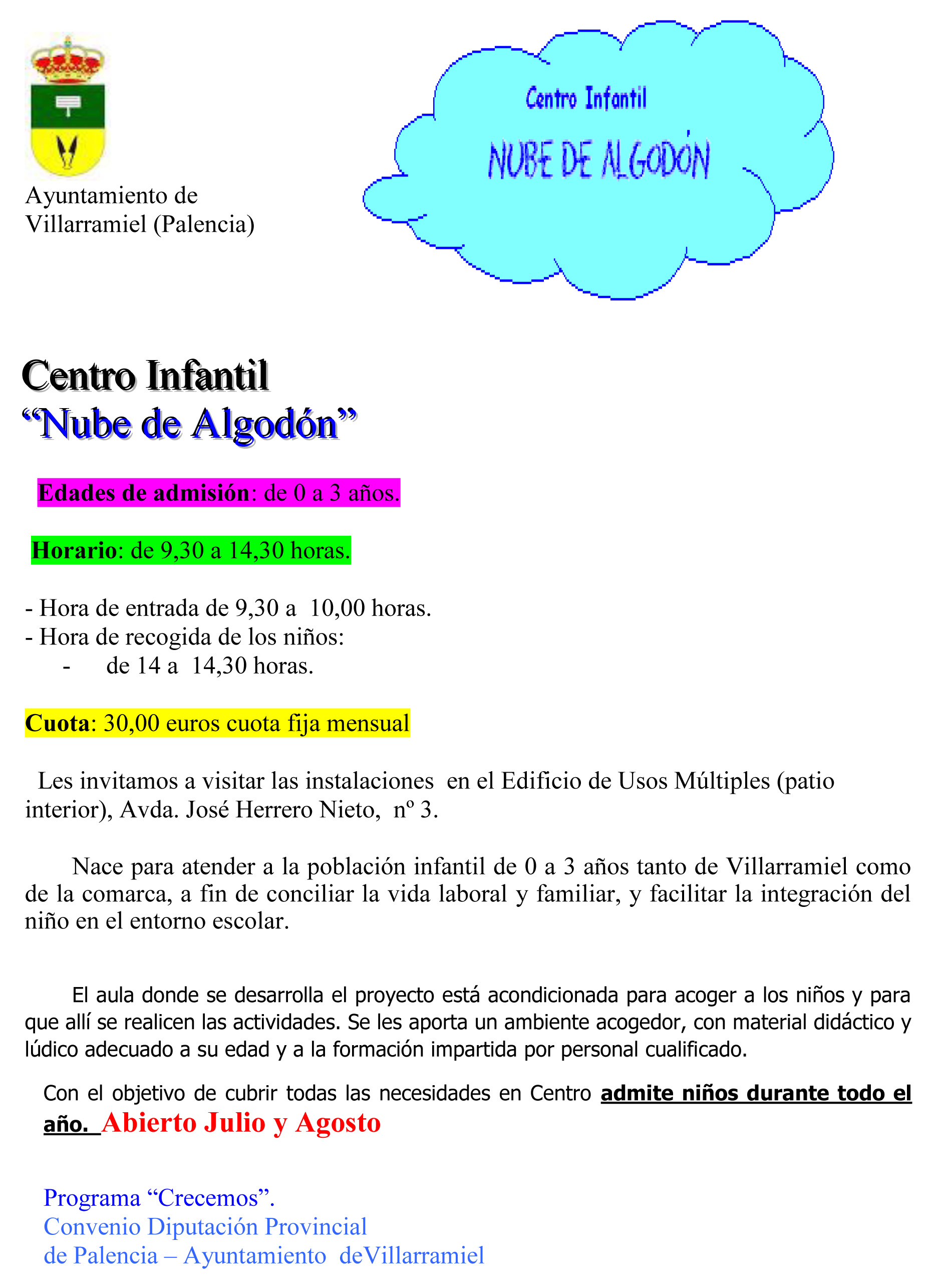 Centro Infantil «Nube de Algodón»
