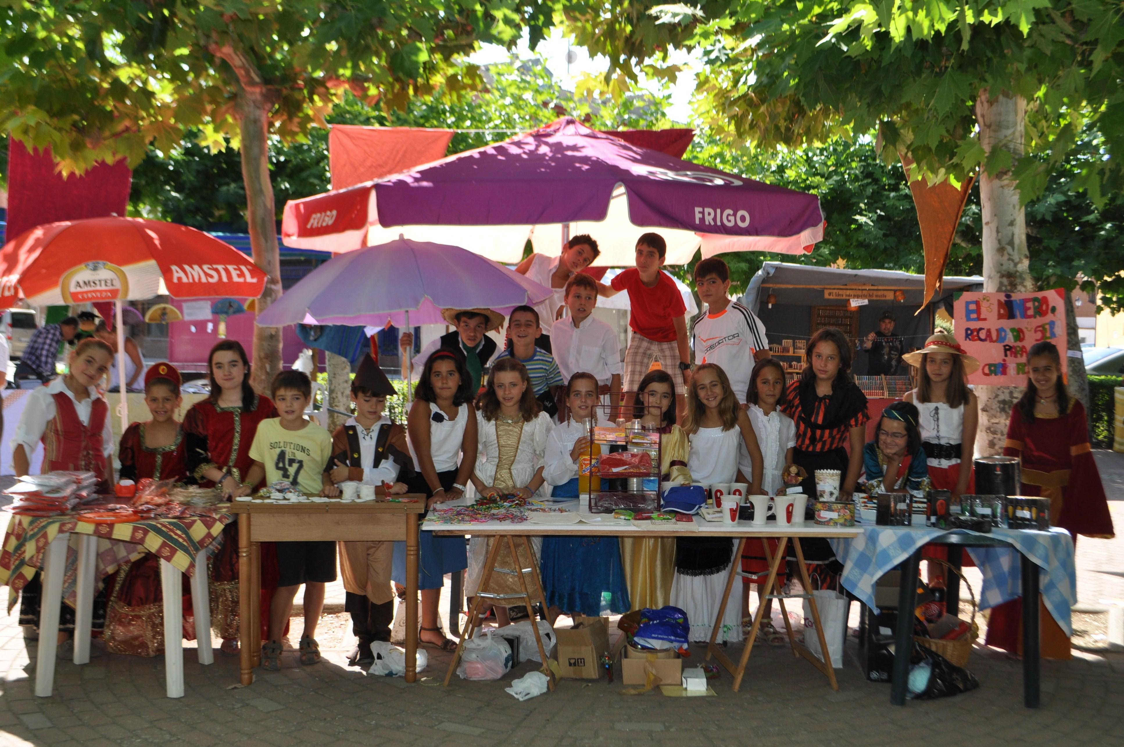 Niñas y niños de Villarramiel destinan lo recaudado en su mercadillo, a los más necesitados
