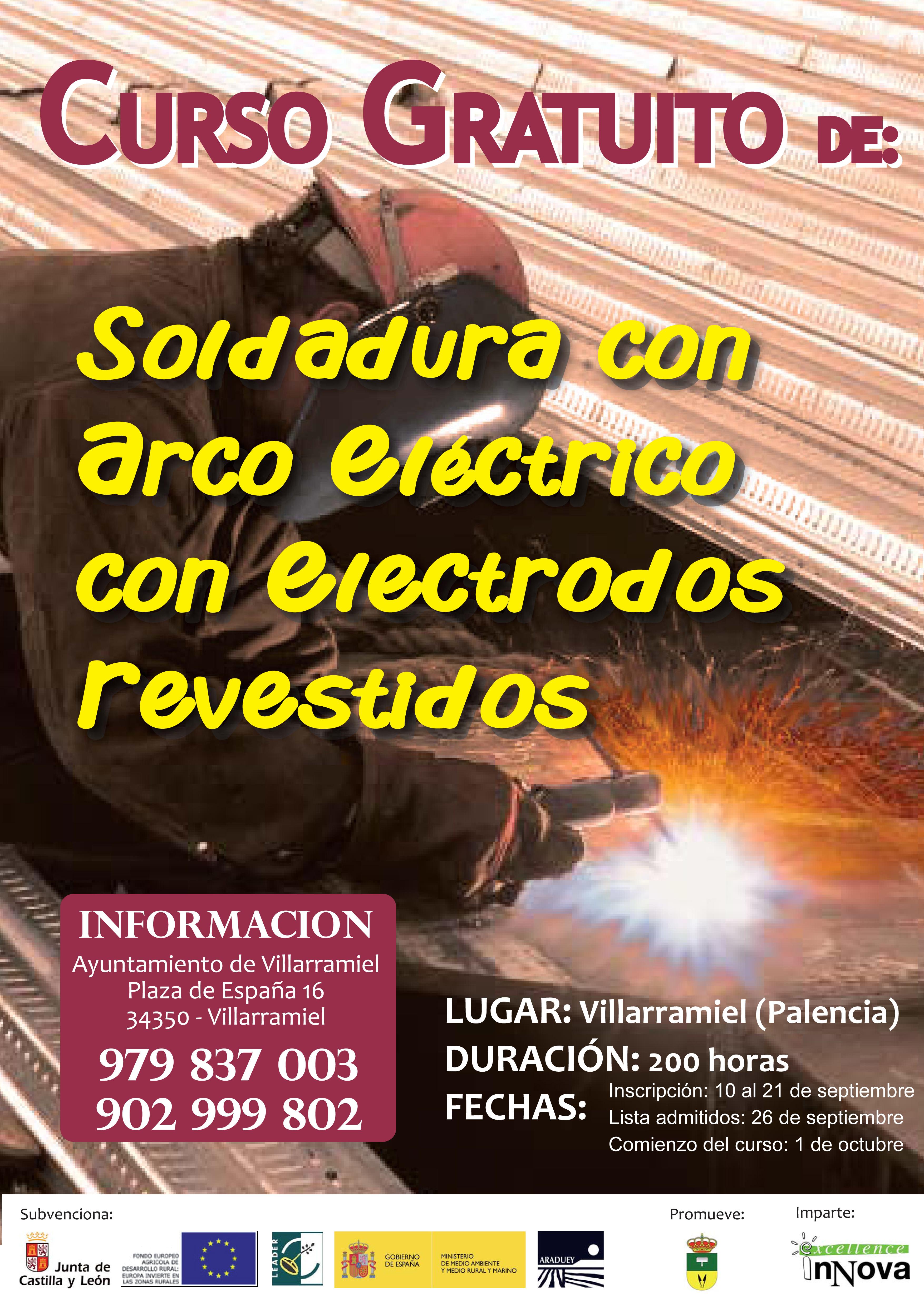 Curso gratuito de Soldadura con arco eléctrico con electrodos revestidos