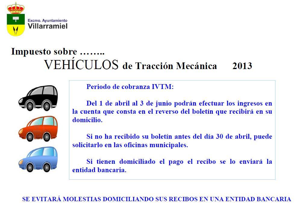 Impuesto sobre vehículos de tracción mecánica 2013