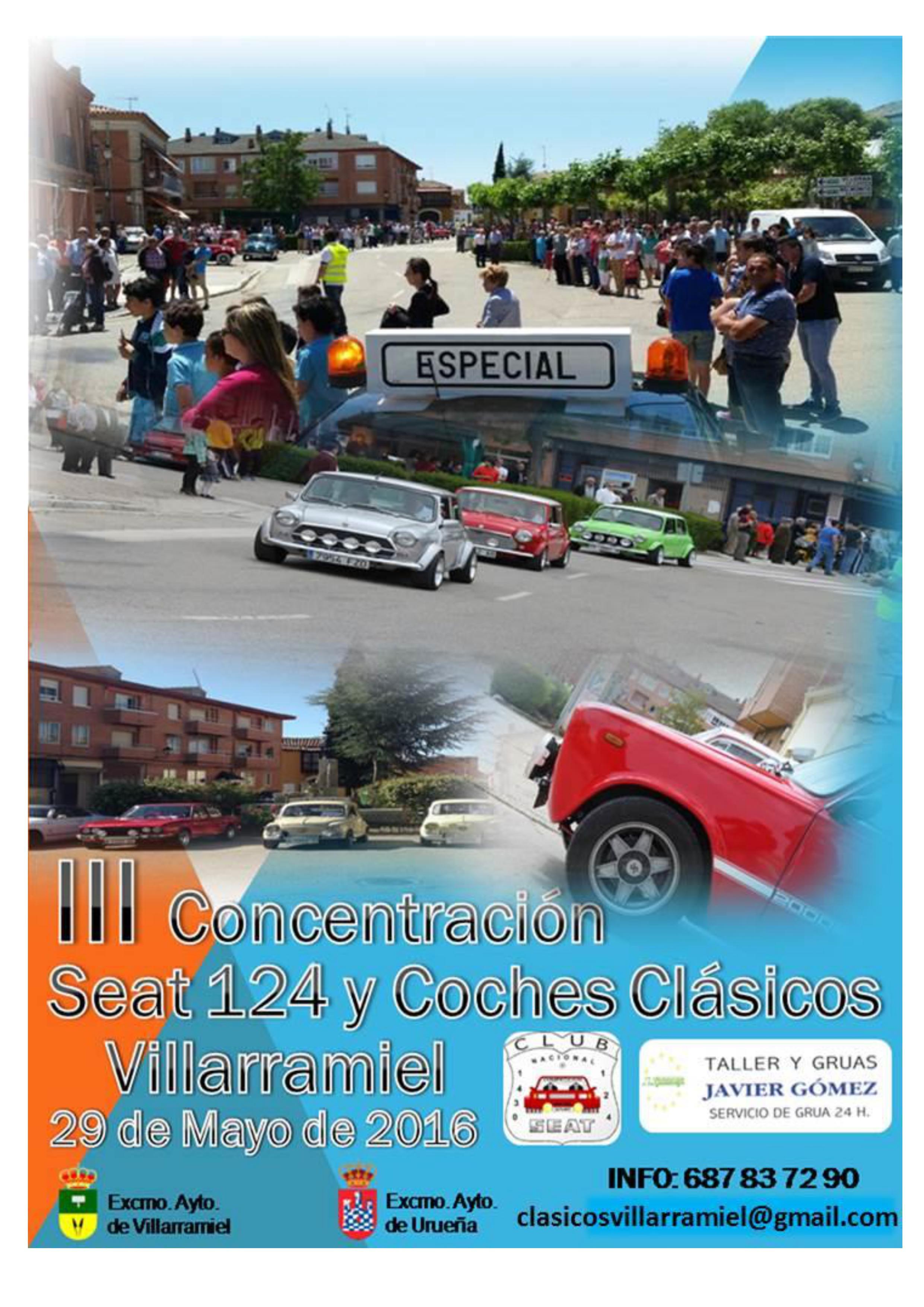 III Concentración Seat 124 y coches clásicos de Villarramiel