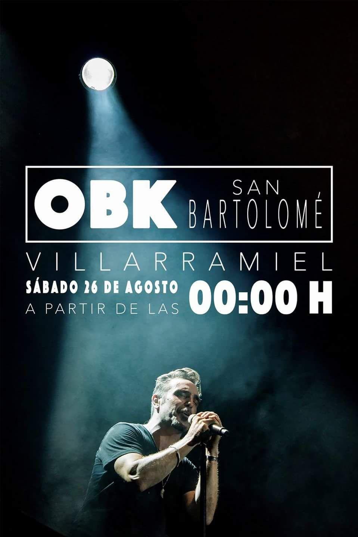Actuación OBK. Sábado 26 de agosto