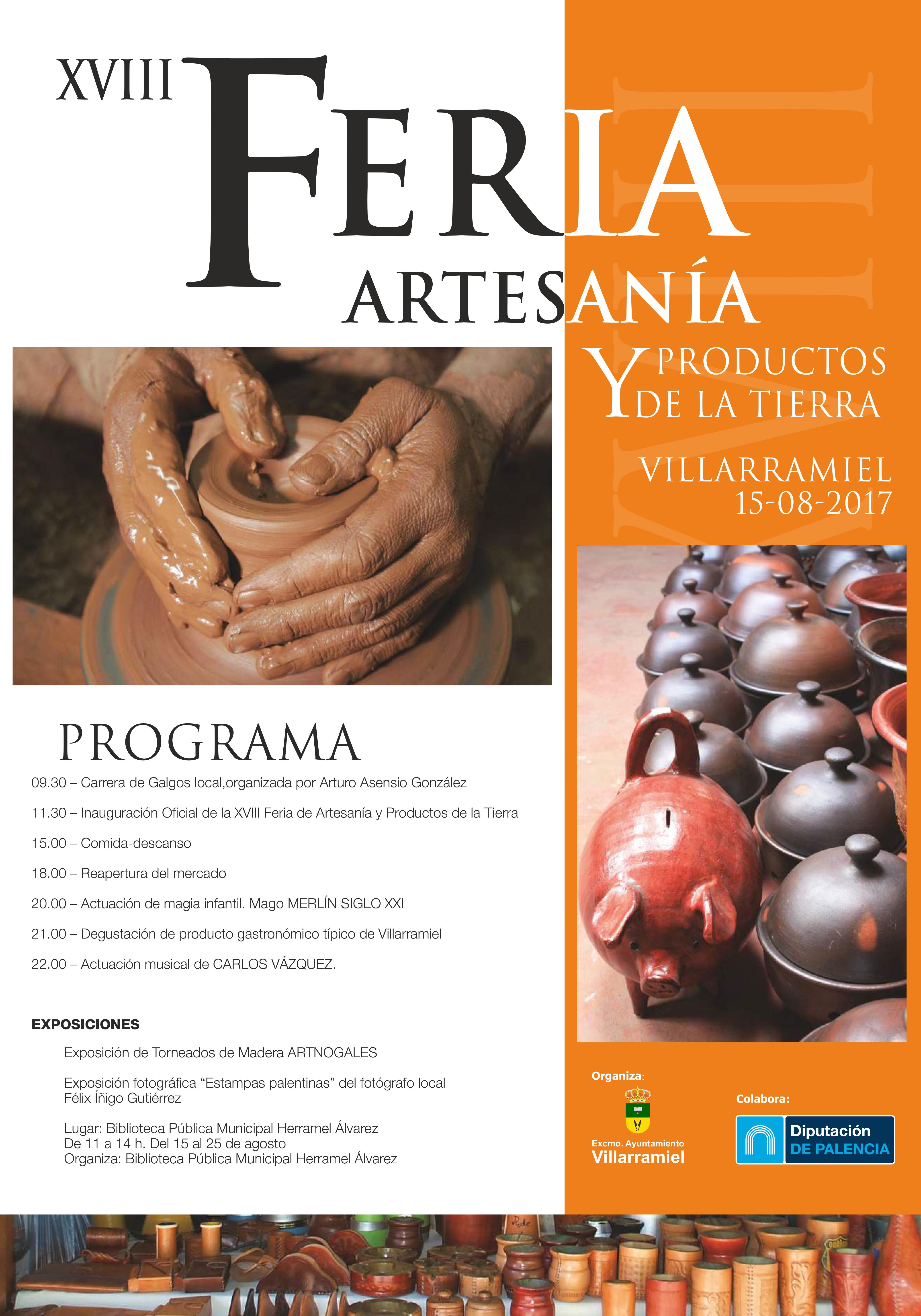 XVIII Feria de Artesanía y Productos de la Tierra. 15 de agosto